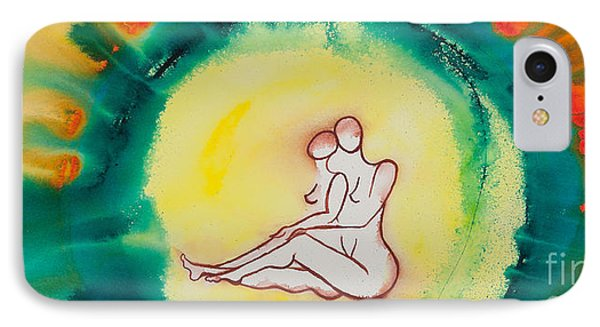 Divine Love Series No. 2086 IPhone Case by Ilisa Millermoon
