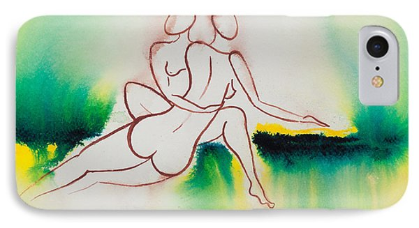 Divine Love Series No. 2090 IPhone Case by Ilisa Millermoon