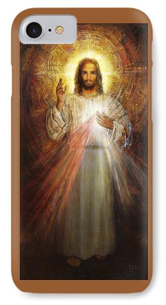 Divine Mercy, Sacred Heart Of Jesus 1 IPhone Case by Terezia Sedlakova Wutzay