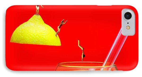 Diving Into Orange Juice Phone Case by Paul Ge