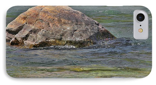 Diving Turtle Rock - Flathead River Middle Fork Mt Phone Case by Christine Till