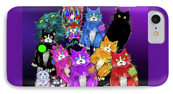 Dizzycats IPhone Case by DC Langer