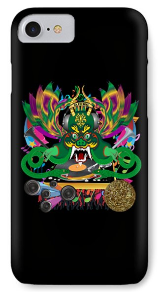 Dj Dragon2 King All Products IPhone Case by Bill Campitelle