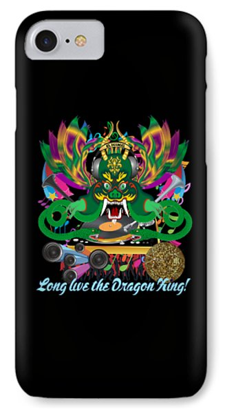 Dj Dragon3 King All Products IPhone Case by Bill Campitelle