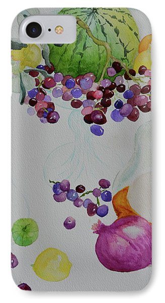 IPhone Case featuring the painting Django's Grapes by Beverley Harper Tinsley