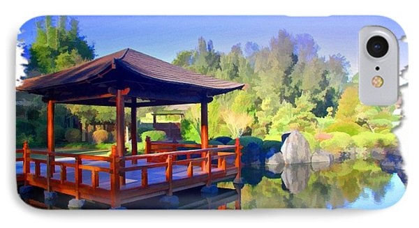 Do-00003 Shinden Style Pavilion IPhone Case by Digital Oil