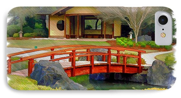Do-00006 Cypress Bridge And Tea House IPhone Case