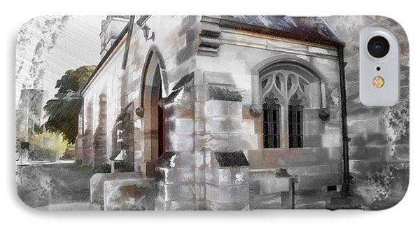 IPhone Case featuring the photograph Do-00116 Church In Morpeth by Digital Oil