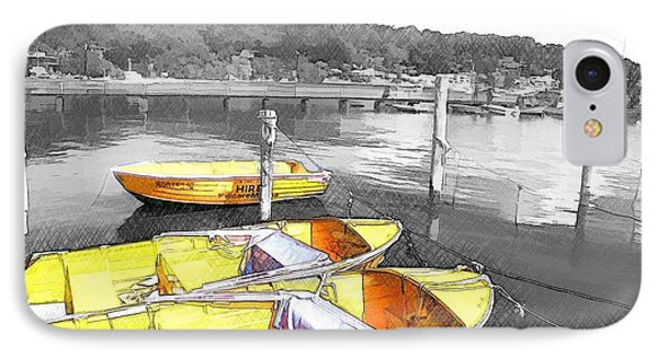 Do-00279 Yellow Boats IPhone Case