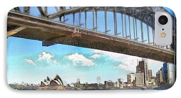 IPhone Case featuring the photograph Do-00284 Sydney Harbour Bridge And Opera House by Digital Oil