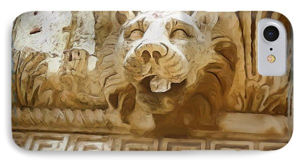 Do-00313 Lion Water Feature IPhone Case