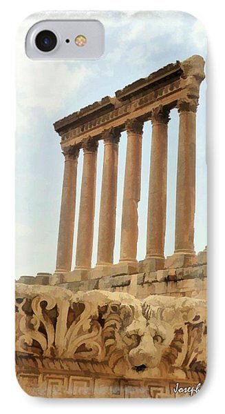 Do-00314 The 6 Corinthian Columns In Baalbeck IPhone Case