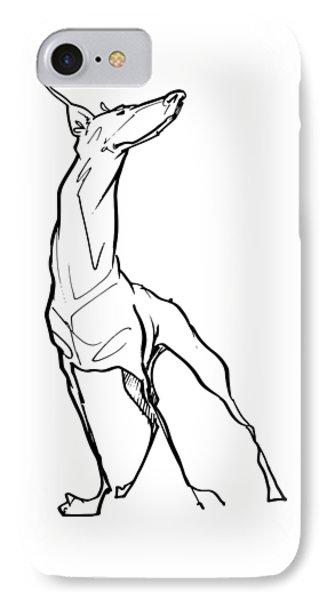 Doberman Gesture Sketch IPhone Case
