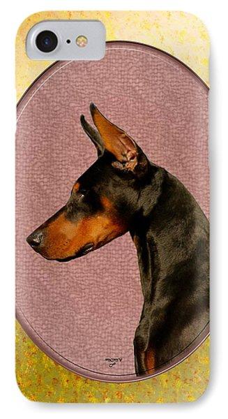 Doberman Head Portrait IPhone Case