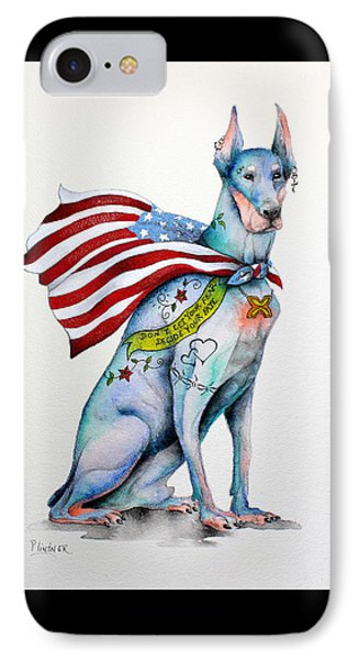 Doberman Napolean IPhone Case by Patricia Lintner
