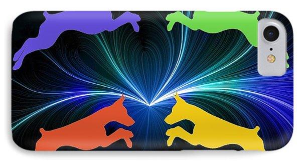 Dobermans In Color IPhone Case