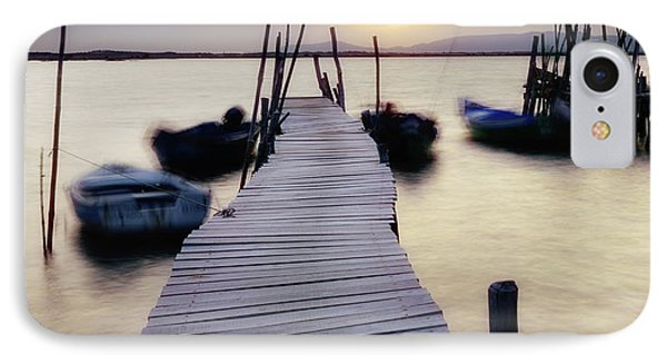Dock At Sunset IPhone Case by Marion McCristall