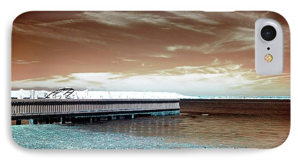 Dock Lines Infrared IPhone Case by John Rizzuto