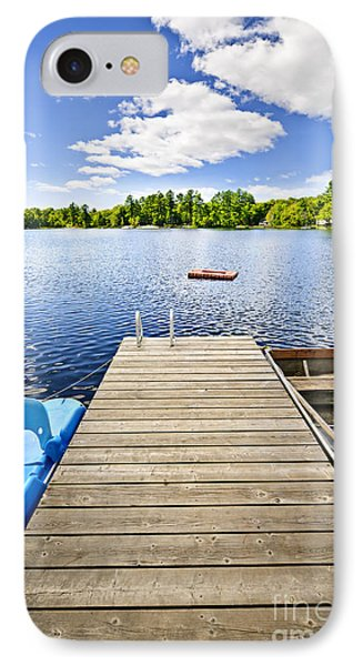 Dock On Lake In Summer Cottage Country IPhone Case by Elena Elisseeva