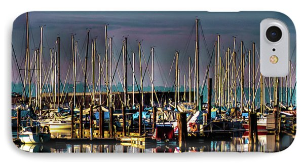 Docked Sailboats IPhone Case by David Patterson