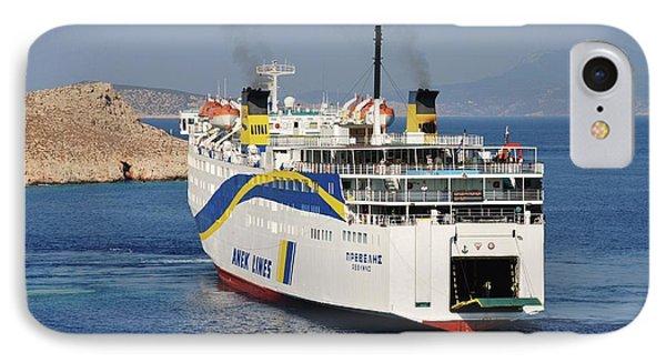 Docking Ferry On Halki IPhone Case
