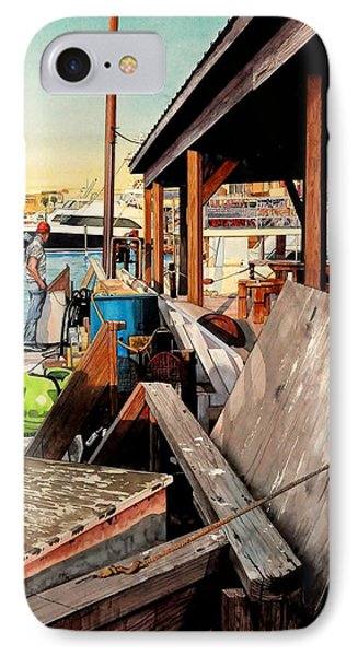 Docks At Port Aransas IPhone Case