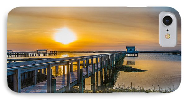Docks At Sunset I IPhone Case by Steven Ainsworth