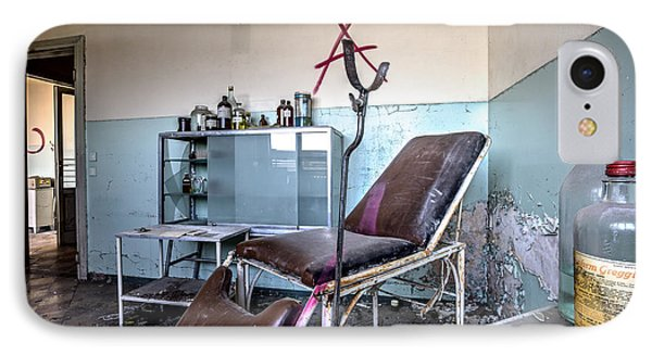 Doctor Chair Awaits Patient - Urbex IPhone Case by Dirk Ercken
