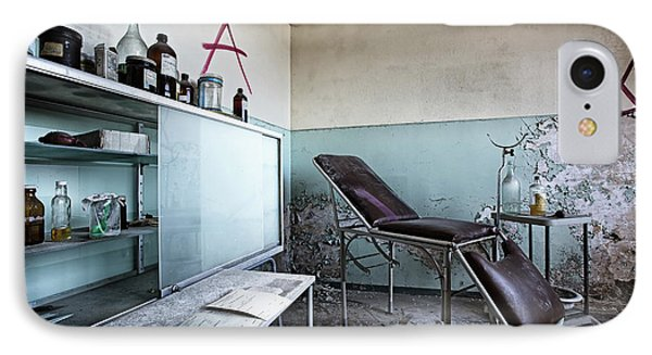 IPhone Case featuring the photograph Doctor Chair Awaits Patient - Urbex Exploaration by Dirk Ercken