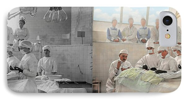 Doctor - Operation Theatre 1905 - Side By Side IPhone Case by Mike Savad