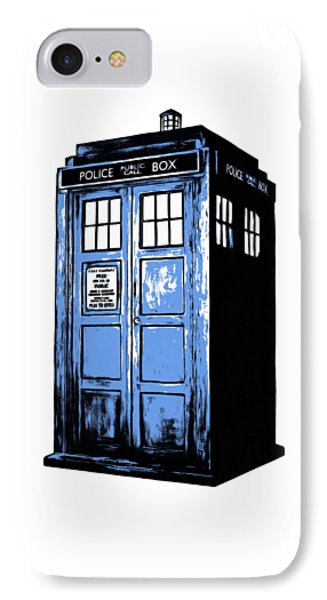 Doctor Who Tardis IPhone Case by Edward Fielding