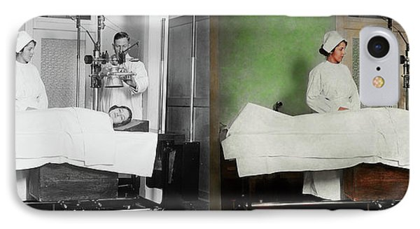 IPhone Case featuring the photograph Doctor - Xray - Getting My Head Examined 1920 - Side By Side by Mike Savad