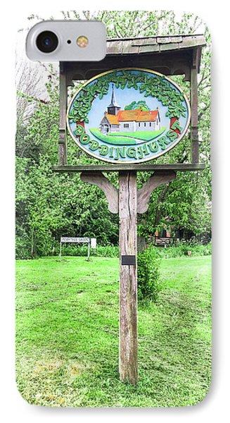 Doddinghurst Village Sign IPhone Case