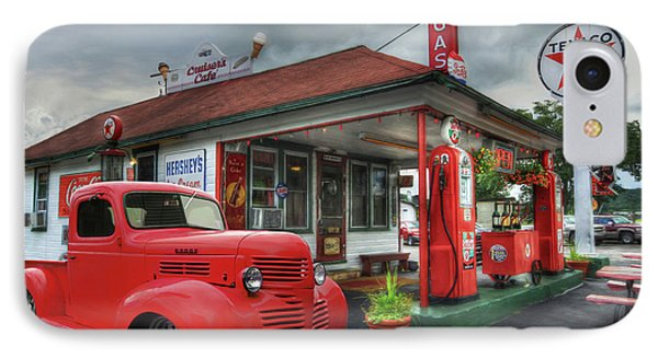 IPhone Case featuring the photograph Dodge At Cruisers by Lori Deiter