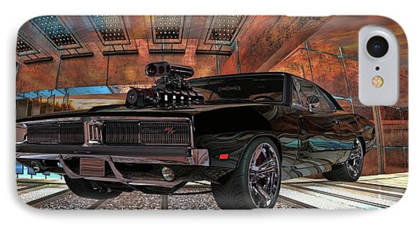 IPhone Case featuring the photograph Dodge Charger R/t 1969 Hemi by Louis Ferreira