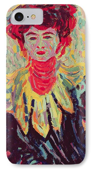 Dodo Or Isabella With A Ruffed Collar IPhone Case by Ernst Ludwig Kirchner