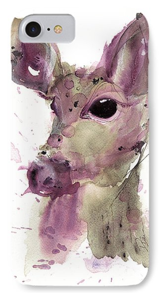 IPhone Case featuring the painting Doe by Dawn Derman
