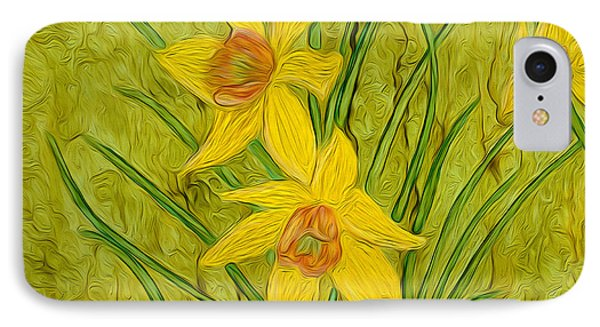 Daffodils Too IPhone Case