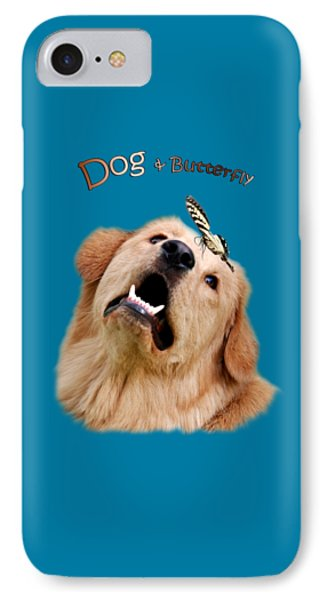 Dog And Butterfly Phone Case by Christina Rollo