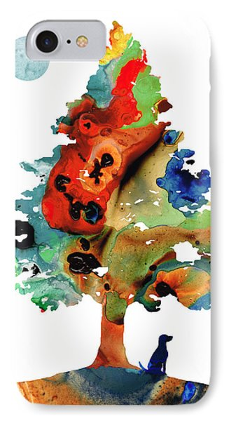 Dog Art - Contemplation 2 - By Sharon Cummings  IPhone Case