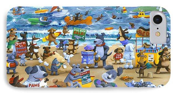 Dog Beach IPhone Case by Peter Adderley