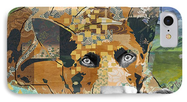 Dog Dreaming Collage IPhone Case by Claudia Schoen