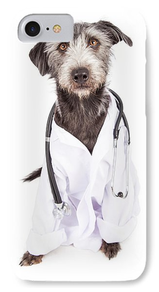 Dog Dressed As Veterinarian IPhone Case by Susan Schmitz