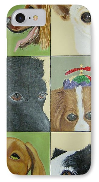 Dog Faces Of Love IPhone Case