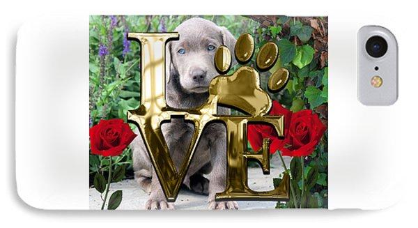 Dog Lover Collection Weimaraner Dog Puppy IPhone Case