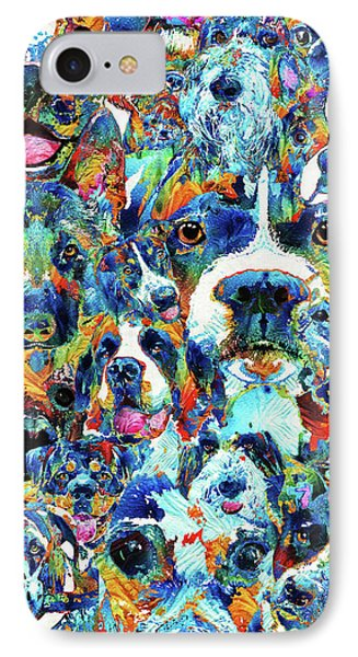 Dog Lovers Delight - Sharon Cummings IPhone Case by Sharon Cummings