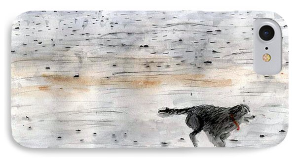 Dog On Beach IPhone Case by Chriss Pagani