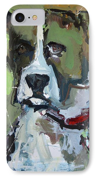 IPhone Case featuring the painting Dog Portrait by Robert Joyner