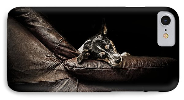 Dog Tired IPhone Case by Paul Neville