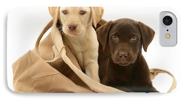 Dogs In Cloth Bag IPhone Case